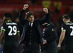 Antonio Conte manager of Chelsea celebrates with the fans during the English Premier League match at the Riverside Stadium, Middlesbrough. Picture date: November 20th, 2016. Pic Simon Bellis/Sportimage