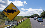 Putting the shit back in the cow - roadsign in Co. Wexford