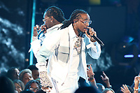 LOS ANGELES, CA - JUNE 23: Migos at the 2019 BET Awards Show at the Microsoft Theater in Los Angeles on June 23, 2019. Credit: Walik Goshorn/MediaPunch
