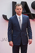 London, UK. 11 July 2016. Actor Matt Damon. Red carpet arrivals for the European Premiere of the Universal movie Jason Bourne (2016) in London's Leicester Square.