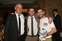Gary Corcoran (C) with Peter Stanley (L) and Johnny Greaves during a Charity Dinner Boxing Show at the Hilton Hotel on 13th November 2017