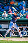 18 July 2018: New Hampshire Fisher Cats infielder Cavan Biggio in action against the Trenton Thunder at Northeast Delta Dental Stadium in Manchester, NH. The Thunder defeated the Fisher Cats 3-2 concluding a previous game started April 29. Mandatory Credit: Ed Wolfstein Photo *** RAW (NEF) Image File Available ***