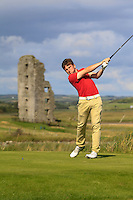 Chris Carroll (Shandon Park) on the 13th tee during Round 2 of The South of Ireland in Lahinch Golf Club on Sunday 27th July 2014.<br /> Picture:  Thos Caffrey / www.golffile.ie