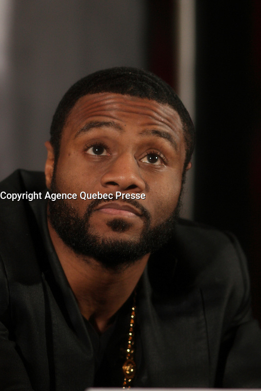Montreal, CANADA, Marc 11, 2015.<br /> <br /> Boxer Jean Pascal at a news conference about his upcoming fight against Sergey Kovalev,on March 14, 2015 at the Bell Centre in Montreal.