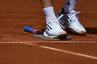11-07-13, Netherlands, Scheveningen,  Mets, Tennis, Sport1 Open, day four, Standing on strings<br /> <br /> <br /> Photo: Henk Koster