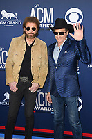 LAS VEGAS, NV - APRIL 7: Kix Brooks and Ronnie Dunn attend the 54th Annual ACM Awards at the Grand Garden Arena on April 7, 2019 in Las Vegas, Nevada. <br /> CAP/MPIIS<br /> &copy;MPIIS/Capital Pictures