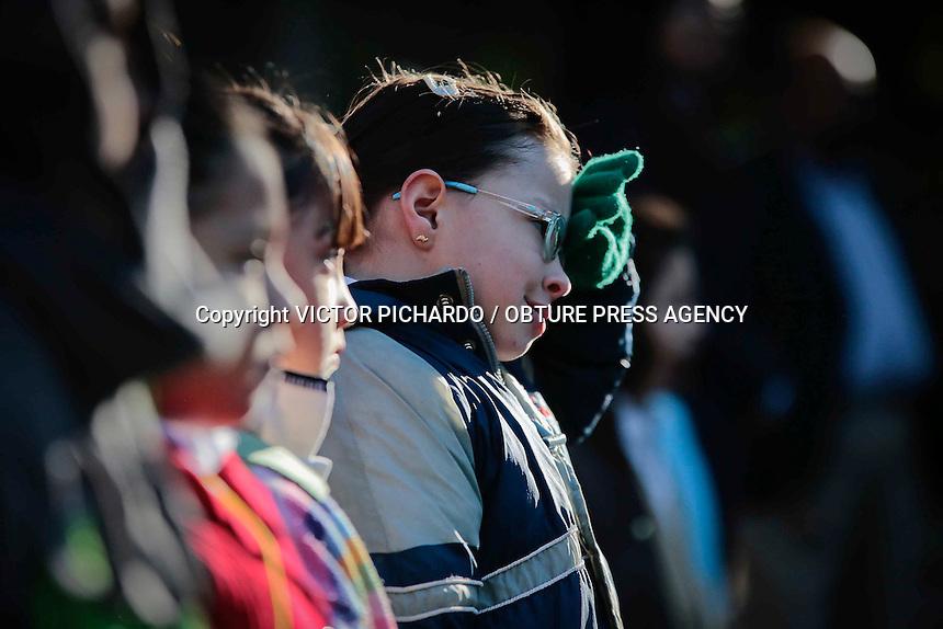 Quer&eacute;taro, Qro. 18 enero 2016.-<br /> El Presidente Municipal de Quer&eacute;taro, Marcos Aguilar Vega, encabez&oacute; la ceremonia de honores a la bandera en las instalaciones de la escuela primaria &quot; Vicente Guerrero&quot; en el Centro Hist&oacute;rico.<br /> Foto: Victor Pichardo / Obture Press Agency