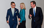 Brussels, Belgium -- July 16, 2014 -- European Council, EU-summit, meeting of Heads of State / Government to decide on the agenda and the composition of the new EU-Commission; here, Alexander STUBB (le), Prime Minister of Finland; Helle THORNING-SCHMIDT (ce), Prime Minister of Denmark; David CAMERON (ri), Prime Minister of the United Kingdom -- Photo: © HorstWagner.eu