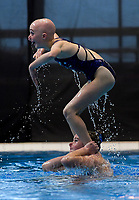 Molly Downing (Wellington Synchro). Day Two of the 2018 North Island Synchronised Swimming Championships at Wellington Regional Aquatics Centre in Wellington, New Zealand on Sunday, 20 May 2018. Photo: Dave Lintott / lintottphoto.co.nz