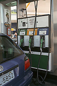 Sao Paulo, Brazil. Petrol pump with petrol (gasoline) and alcohol biofuel.