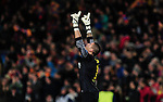 Barcelona. Spain. 12/03/201. football match between fc barcelona and manchester city.<br /> victor valdes