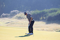 Paul Dunne (IRL) on the 10th green during Round 1 of the 2015 Alfred Dunhill Links Championship at Kingsbarns in Scotland on 1/10/15.<br /> Picture: Thos Caffrey | Golffile
