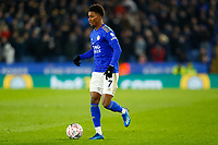 4th March 2020; King Power Stadium, Leicester, Midlands, England; English FA Cup Football, Leicester City versus Birmingham City; Demarai Gray of Leicester City on the ball