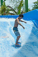 Yujiro gettig the hang of it on his first attempt on a static wave.<br />