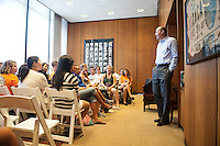 First-years attend Matriculation with President Jonathan Veitch in the AGC, Aug. 30, 2010 (Photo by Marc Campos, Occidental College Photographer)