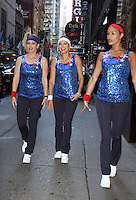 NEW YORK, NY-August 08: Sara Haines, Paula Faris, Rachel Smith at Good Morning America going for GMA Olympic Gold in New York. NY August 08, 2016. Credit:RW/MediaPunch