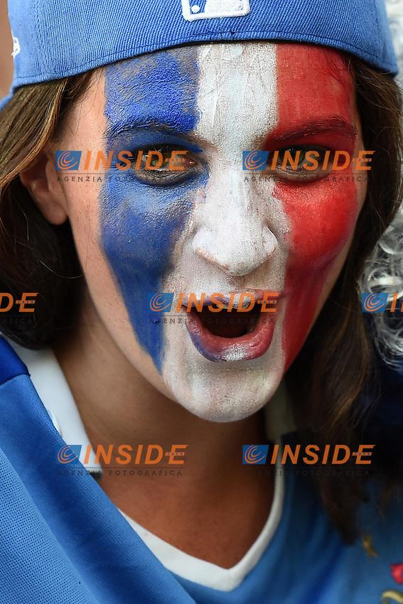 France Supporters Tifosi <br /> Rio de Janeiro (Brasile) 25-06-2014 Estadio Maracana. Group E Ecuador - France / Ecuador - Francia . Football 2014 Fifa World Cup Brazil - Campionato del Mondo di Calcio  Brasile 2014 <br /> Foto Insidefoto