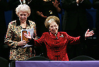PICTURE BY VAUGHN RIDLEY/SWPIX.COM - Leeds International Piano Competition 2012 - Leeds Town Hall, Leeds, England - 15/09/12 - Dame Janet Baker and Dame Fanny Waterman.