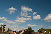 Cumulus clouds above southern England.