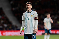 Argentina's Leo Messi during International Adidas Cup match between Argentina and Venezuela at Wanda Metropolitano Stadium in Madrid, Spain. March 22, 2019. (ALTERPHOTOS/A. Perez Meca)<br /> Madrid 22-03-2019 <br /> Football Friendly Match <br /> Argentina Vs Venezuela <br /> foto Alterphotos/Insidefoto <br /> ITALY ONLY
