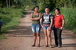 Felicidade Carolaine da Silva Castro (left), Djanira Dias da Sousa, and Felicidade Carolaine da Silva Castro are teachers in Acaizal, a rural village in the Amazon near Santarem, Brazil.
