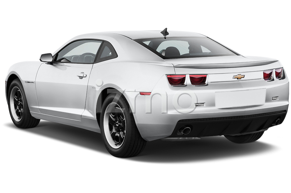 Rear three quarter view of a 2013 Chevrolet Camaro Coupe 1LS