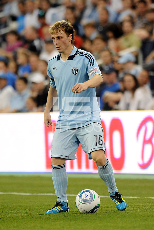 Seth Sinovic Sporting KC defender in action... Sporting KC defeated San Jose Earthquakes 1-0 at LIVESTRONG Sporting Park, Kansas City, Kansas.