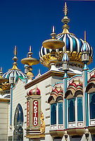 Ornate details on the Taj Mahal Casino, Atlantic City, New Jersey.