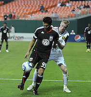 DC United forward Jaime Moreno (99) shields the ball against Real Salt Lake defender Nat Borchers (6)   DC United defeated Real Salt Lake 2-1 to advance to the round of 16 of the  U.S. Open Cup at RFK Stadium, Wednesday  June 2  2010.