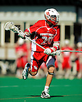 30 April 2011: Stony Brook Seawolves' midfielder Timmy Trenkle, a Senior from Commack, NY, in action against the University of Vermont Catamounts on Moulton Winder Field in Burlington, Vermont. The Catamounts fell to the visiting Seawolves 12-9 to conclude their America East season. Mandatory Credit: Ed Wolfstein Photo