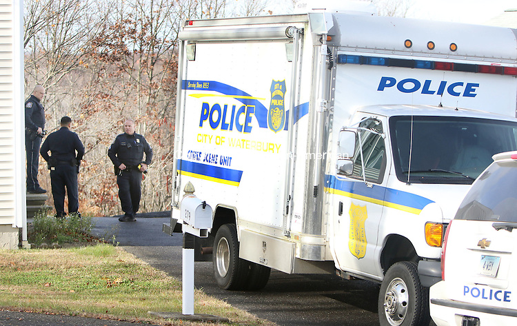 WATERBURY CT. 26 November 2015-112715SV09-Police investigate a possible untimely death at 279 Capital Avenue in Waterbury Friday.<br /> Steven Valenti Republican-American
