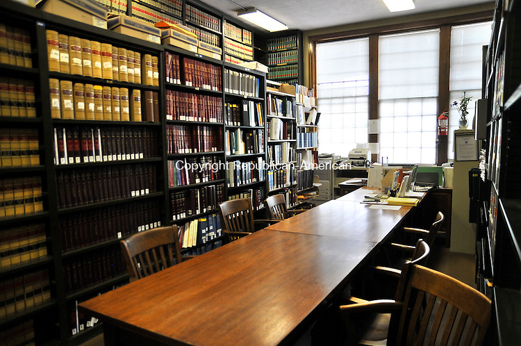 TORRINGTON, CT - 29 MAY 2014 -- The law library at Litchfield Superior Court has floor to cieling bookshelves and little space for research. It will be replaced with a larger facility in the new Litchfield Judicial District courthouse approved for Torrington.  Alec Johnson/ Republican-American