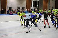 SCHAATSEN: LEEUWARDEN: 30-09-2015, Elfstedenhal, 1e competitiewedstrijd Mass Start, Winnaar Jan Blokhuijsen (#8), ©foto Martin de Jong