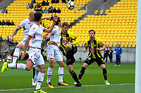 Dario Vidosic scores the first goal during the A-League football match between Wellington Phoenix and Adelaide United FC at Westpac Stadium in Wellington, New Zealand on Sunday, 8 October 2017. Photo: Dave Lintott / lintottphoto.co.nz