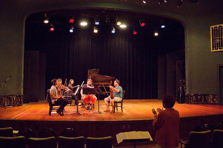 Port Townsend, Centrum, Chamber Music Workshop, June 16-21 2015, Fort Worden, Lucinda Carver teaching workshop artists, Quartet Elektra, pianist, Pauline Yang,