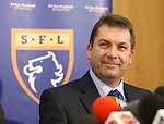 David Longmuir chief executive of the Scottish Football League announces that Rangers have been accepted as an associate member of the SFL and have been invited into Division 3 for the start of the season 2012-13