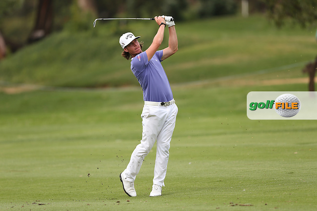 Kristoffer Broberg (SWE) heads down the 17th towards a 67 on the West Course during Round One of the Joburg Open 2015 at the Royal Johannesburg & Kensington Golf Club, Johannesburg, Gauteng, South Africa. Picture:  David Lloyd / www.golffile.ie. 26/02/2015