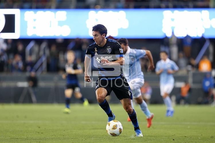 San Jose, CA - Saturday September 15, 2018: Shea Salinas during a Major League Soccer (MLS) match between the San Jose Earthquakes and Sporting Kansas City at Avaya Stadium.