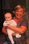 After the show on Sept. 26, 2018 grandparent Kim Zimmer poses with her grandson Vincent Allen Wychules - Guiding Light and OLTL's Kim Zimmer stars in The Shuck  at the Cape May Stage in Cape May, New Jersey. (Photo by Sue Coflin/Max Photo)