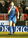 19/02/2005         Collect Pic : James Stewart.File Name : jspa06_dundee_utd_v_inverness.CALEY'S GRANT MUNRO LOOKS DEJECTED AFTER HE HEADS THE BALL INTO HIS OWN NET FOR DUNDEE UNITED'S FIRST....Payments to :.James Stewart Photo Agency 19 Carronlea Drive, Falkirk. FK2 8DN      Vat Reg No. 607 6932 25.Office     : +44 (0)1324 570906     .Mobile   : +44 (0)7721 416997.Fax         : +44 (0)1324 570906.E-mail  :  jim@jspa.co.uk.If you require further information then contact Jim Stewart on any of the numbers above.........A