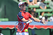 11th January 2018,  Kooyong Lawn Tennis Club, Kooyong, Melbourne, Australia; Priceline Pharmacy Kooyong Classic tennis tournament; Matt Ebden of Australia returns to Richard  Gasquet of France