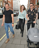 Harry Judd, Georgia Horsley and Danny Jones at the Tom and Giovanna Fletcher's &quot;Eve of Man&quot; book launch party, The Marylebone Hotel, Welbeck Street, London, England, UK, on Thursday 31 May 2018.<br /> CAP/CAN<br /> &copy;CAN/Capital Pictures