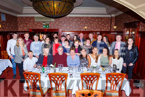 Kathleen O'Mahony, Cullen Co Cork seated centre celebrated her 60th birthday with her family and friends in the International Hotel Killarney on Saturday night