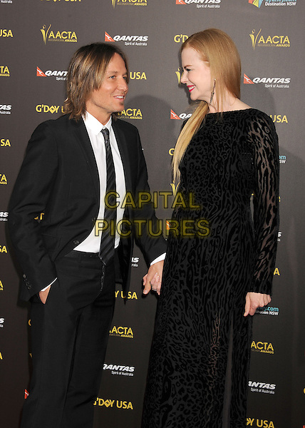 LOS ANGELES, CA - JANUARY 31: Musician Keith Urban (L) and wife/actress Nicole Kidman attend the 2015 G'Day USA Gala featuring the AACTA International Awards presented by Qantas at Hollywood Palladium on January 31, 2015 in Los Angeles, California.<br /> CAP/ROT/TM<br /> &copy;TM/ROT/Capital Pictures