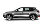 Driver side profile view of a 2014 Porsche Cayenne Hybrid S 5 Door SUV
