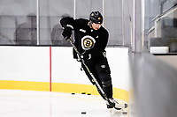 September 11, 2018: Boston Bruins defenseman Torey Krug (47) works along the boards during the Boston Bruins training camp at Warrior Ice Arena in Brighton Mass. Eric Canha/CSM
