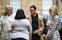 10 January 2019 - London, England - Lady Juliet Hughes Hallett, chair of Smart Works, Kate Stephens, Smart Works CEO and Meghan Markle Duchess of Sussex visits Smart Works Charity. Photo Credit: ALPR/AdMedia
