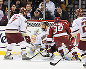 Carl Sneep (BC - 7), Chris Venti (BC - 30), Conor Morrison (Harvard - 38) - The Boston College Eagles defeated the Harvard University Crimson 6-0 on Monday, February 1, 2010, in the first round of the 2010 Beanpot at the TD Garden in Boston, Massachusetts.