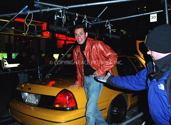 "Poplular singer MARC ANTHONY filming an episode for ""I Love New York"" Commercial on Lafayette Street in New York. March 19, 2002. ""I Love NY"" advertising campaign is the public initiative to help the city's economy and attract more visitors. Robert DeNiro, Billy Crystal, Rudy Guliani and others have previously participated in the campaign. © 2002 by Alecsey Boldeskul/NY Photo Press.   ..*PAY-PER-USE*      ....NY Photo Press:  ..phone (646) 267-6913;   ..e-mail: info@nyphotopress.com"