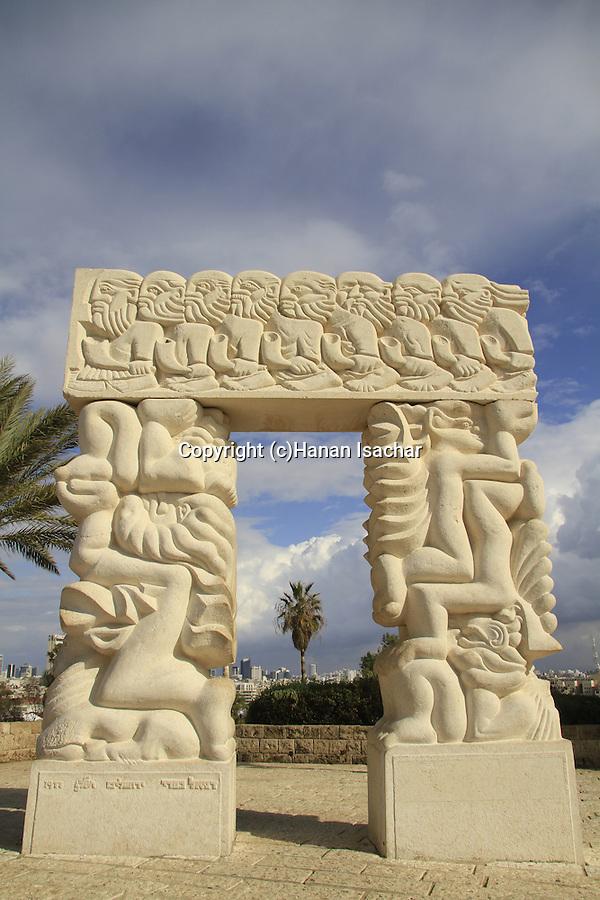 Israel, Tel Aviv-Yafo, Hapisga garden in Old Jaffa